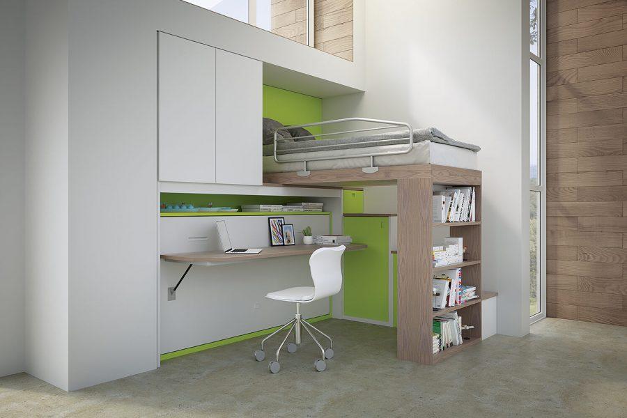 Libreria Scrivania A Scomparsa : Libreria con scrivania integrata beautiful pareti attrezzate con
