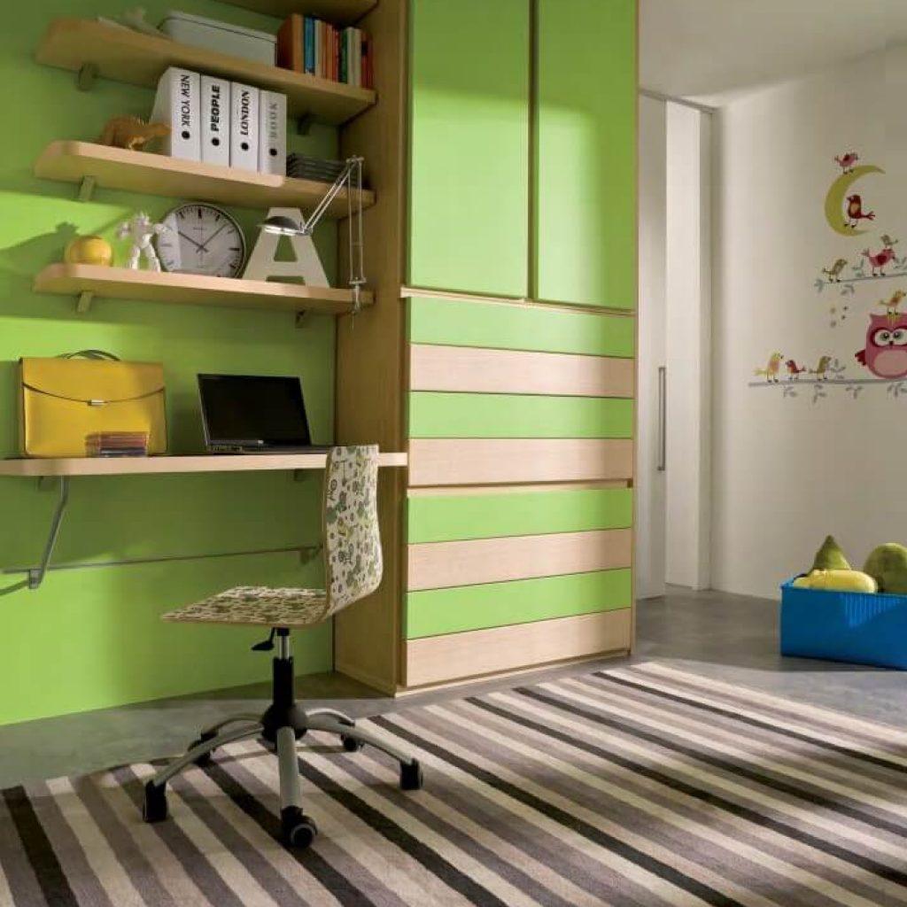 Cameretta completa per bambini lifesystem 20 marzorati camerette - Camerette verde mela ...