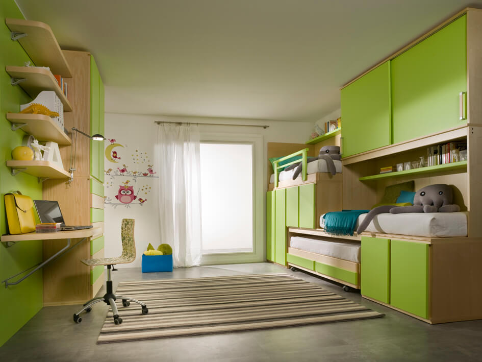 Cameretta completa per bambini lifesystem 20 marzorati camerette - Camerette per bambini economiche ...