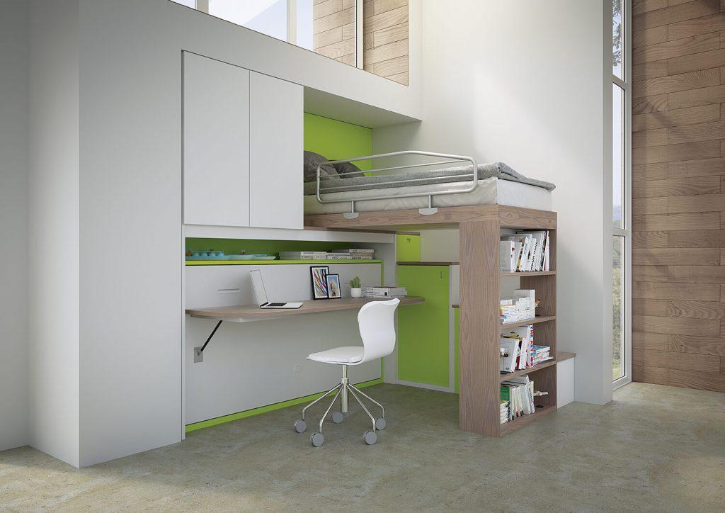 Letti a soppalco pw12 marzorati camerette - Letto soppalco con scrivania ...