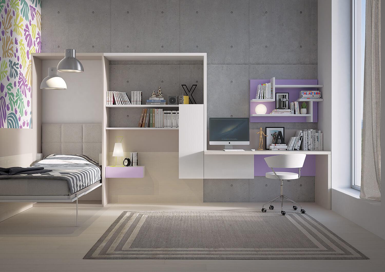Libreria Con Letto A Scomparsa : Camera con letto castello e scaletta contenitore marzorati