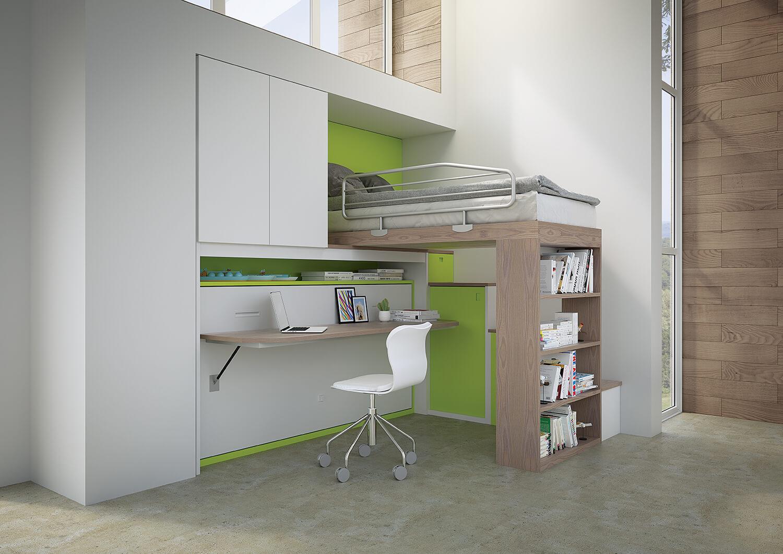 scrivania integrata in letto a scomparsa pw12 marzorati